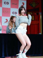 EXID新歌发布 台上秀舞蹈娇羞可爱
