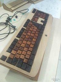 木制键盘独领?极客制作过程全曝光