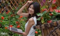 美景美女美本 三星笔记本亮相世界花卉大观园