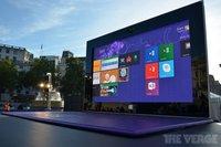 惊目!微软在伦敦支起383英寸巨屏Surface 2