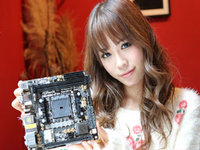 萌妹子小而巧 华擎FM2A88X-ITX+主板图赏