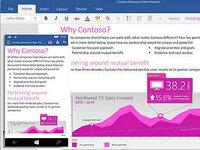 Windows触控版Office套件预览版界面截图:Word