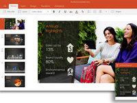 Windows触控版Office套件预览版界面截图:Powerpoint