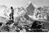 珍�F老照片�原人�首次登�珠峰全�^程