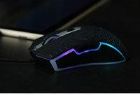 1680万色幻彩RGB 雷柏V29S星空黑游戏鼠标图赏