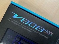 原厂轴手感不凡:雷柏V808 RGB机械键盘图赏