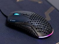 雷柏V360模块幻彩RGB鼠标开箱图赏