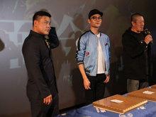 王凯现身《铁道飞虎》广州点映会