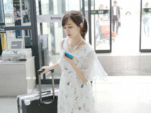 SNH48,清纯,机场,冯薪朵,透视裙,