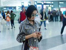 唐艺昕,病号服,机场,美腿,北京,