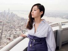 张靓颖,修长美腿,甜笑,帝国大厦,镜头,
