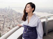 张靓颖,短裤,美腿,帝国大厦,