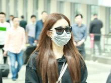 赵丽颖,撩发,帅气,机场,眼镜,