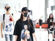 陈飞宇,欧阳娜娜,机场,清爽帅气,