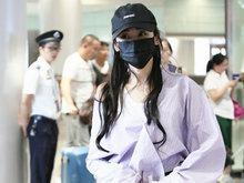 张天爱,机场,口罩遮面,