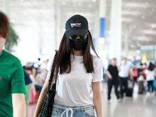 张天爱,机场,帅气十足,八卦爆料,国内女明星,