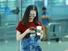 张靓颖,北京,机场,小腰精,凹造型,