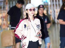 王子文,机场,美腿,清爽,时尚,八卦爆料,国内女明星,