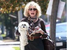 简·方达怀抱爱犬似贵妇 获友人陪同街头畅聊心情佳