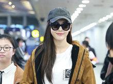 唐嫣,机场,八卦爆料,国内女明星,甜笑,