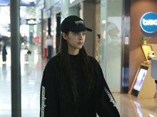 欧阳娜娜,棒球帽,酷帅,全黑,八卦爆料,