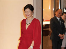 一代女神钟楚红驾驭大红裙现身活动 散发高贵的气息