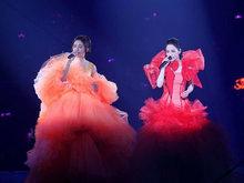 Twins合体开演唱会 阿娇阿sa冒着严寒穿着华丽蛋糕裙超惊艳