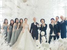 GAI梦幻婚礼照曝光 新郎新娘同伴郎伴娘团合影