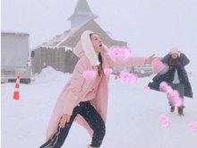 """范玮琪开启七月冰雪模式 伸长了舌头要""""吃雪"""""""
