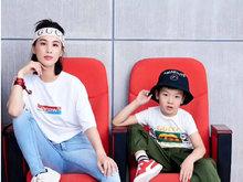 杨子晒妻儿运动风酷炫写真 黄圣依与安迪神同步