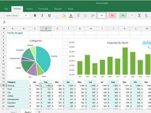 Windows触控版Office套件预览版界面截图:Excel