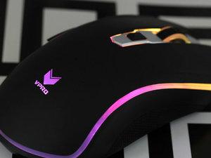 更强芯 雷柏V25PRO幻彩RGB电竞鼠标图赏
