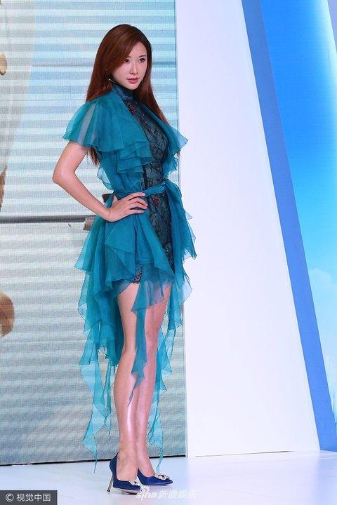 林志玲活动沈阳出席某空降图片连衣裙大秀美烦躁的图片包字带蓝色表情图片