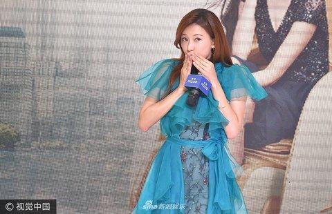 林志玲活动沈阳出席某空降表情连衣裙大秀美卡通包图片蓝色h动态图片
