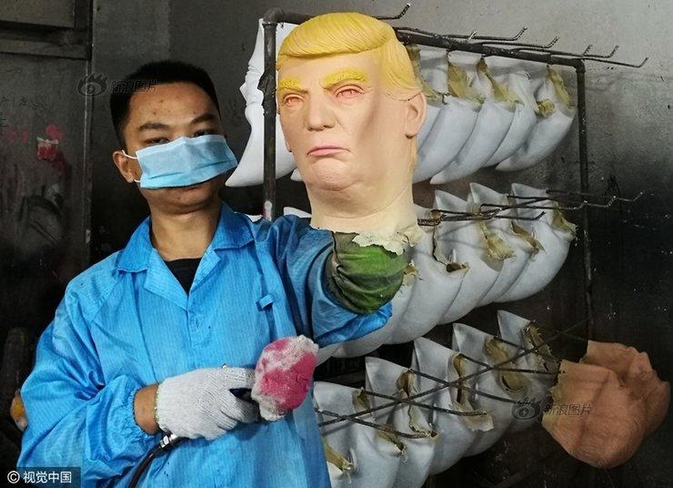 供不应求的特朗普面具都在这里生产