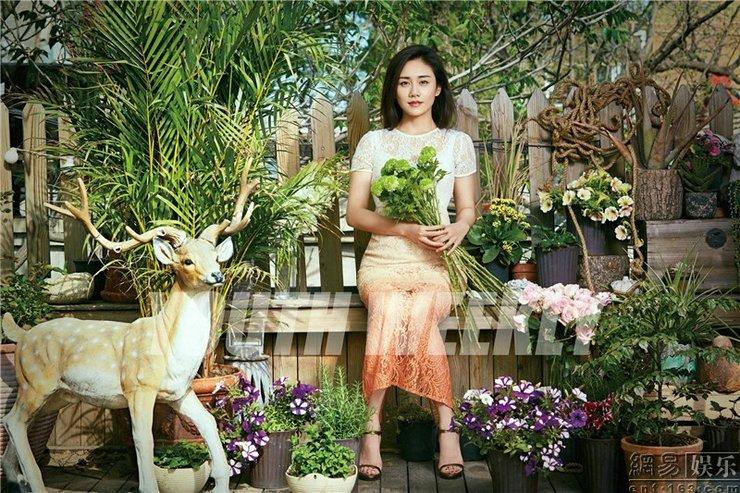刘芸曝光封面大片 优格女神与花季有个约会