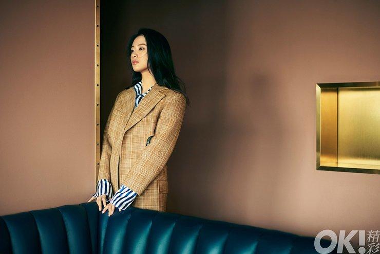 李梦为某杂志拍摄的封面组图曝光