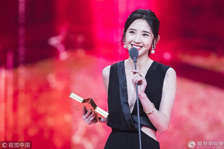 在2017国剧盛典节目录制现场 马伊�P与雷佳音