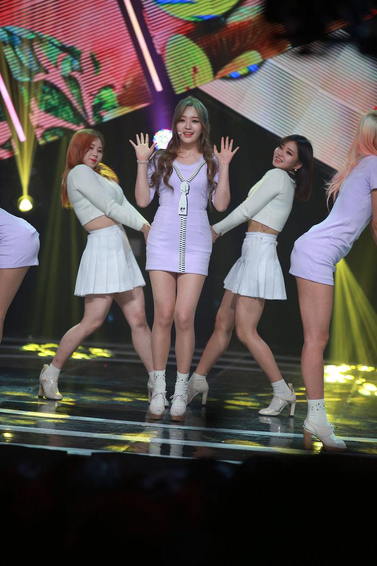 AOA演唱会嗨翻天 穿超短裙跳可爱到爆