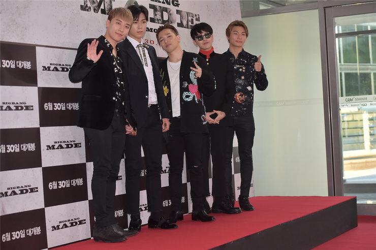 BIGBANG亮相活动现场 全黑LOOK帅气值飙升