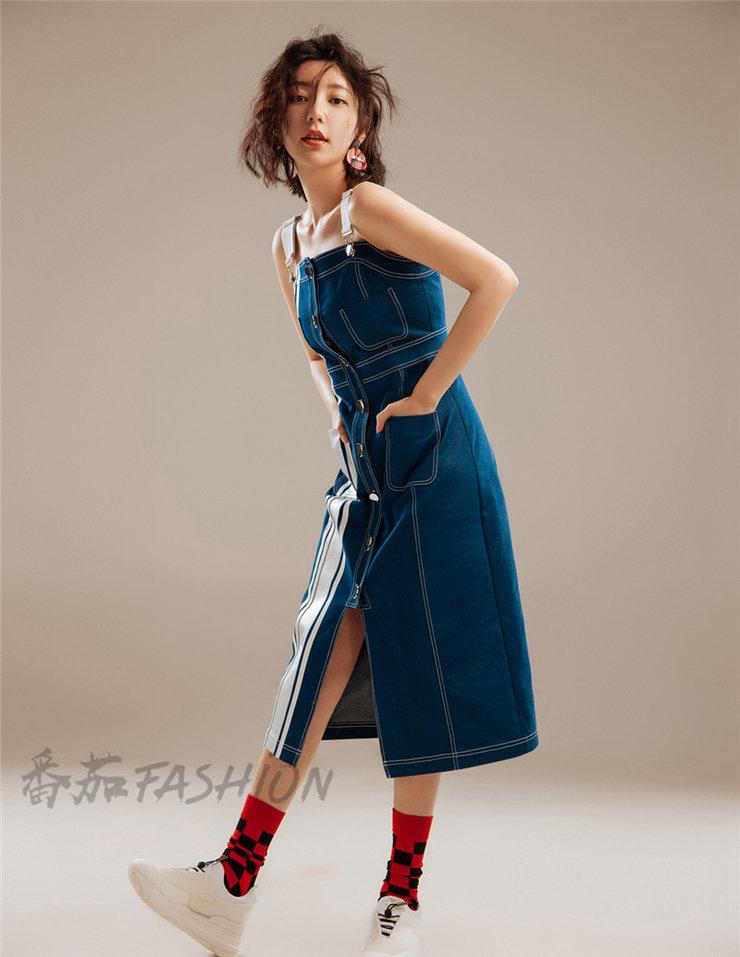 郭雪芙齐肩卷发拍写真 几套造型既俏皮又时尚