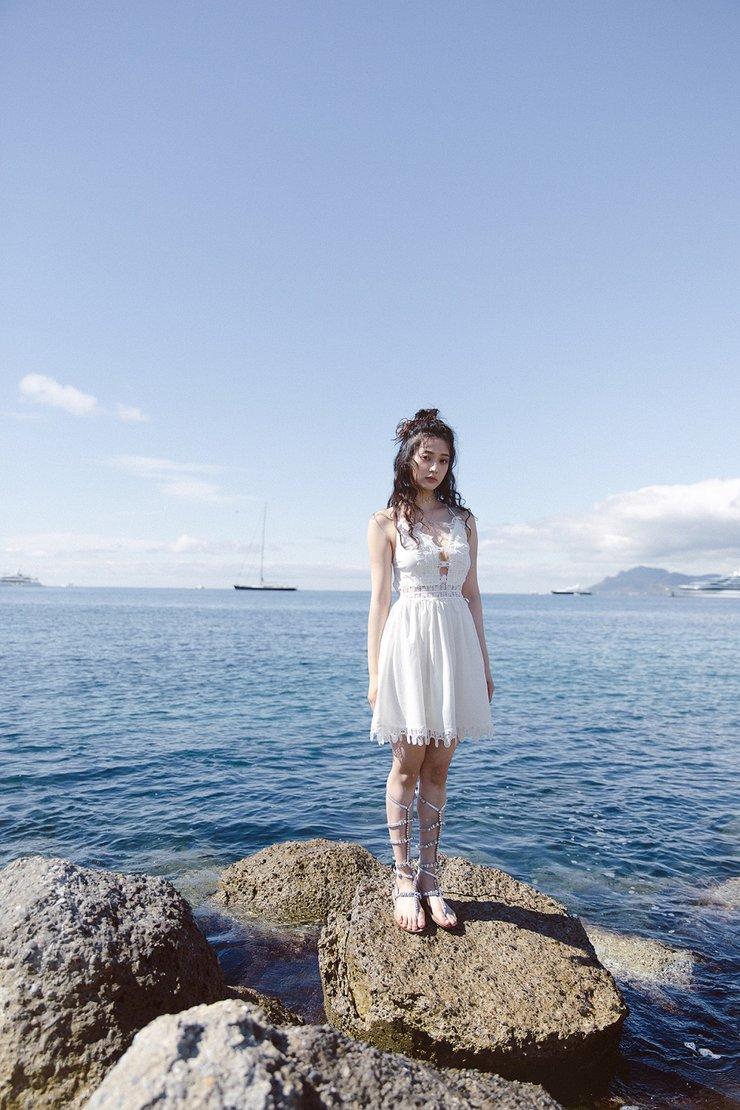 唐本海滩写真大片  清新自然仙气十足