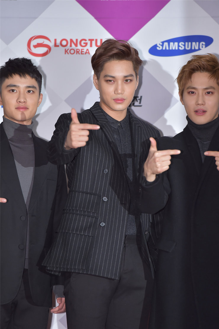 EXO帅气现身音乐节 压轴登场引粉丝尖叫