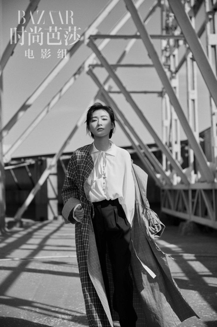万茜最新杂志大片曝光 刺绣西装干练又优雅